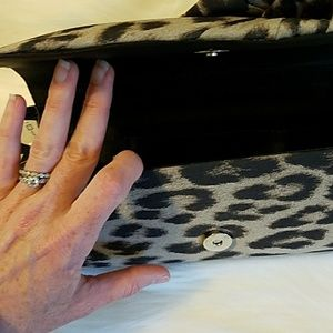 Magid Evening Bags - Leopard Rose evening print clutch
